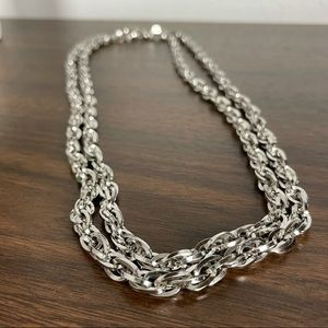 """Vintage Monet silver chain 54"""" chunky necklace"""